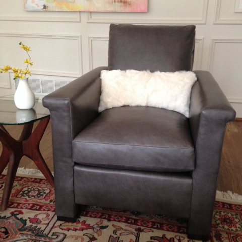 Chair Upholstered in Chicago By Keleen Leathers