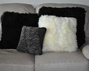 Shearling and Mongolian Pillows by Keleen Leathers