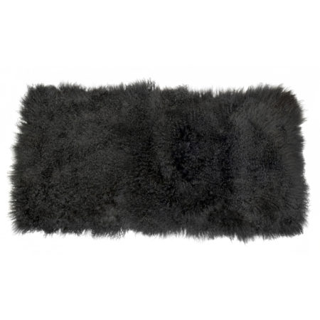 Keleen Leathers Luxury Shearling Rug Hide Black