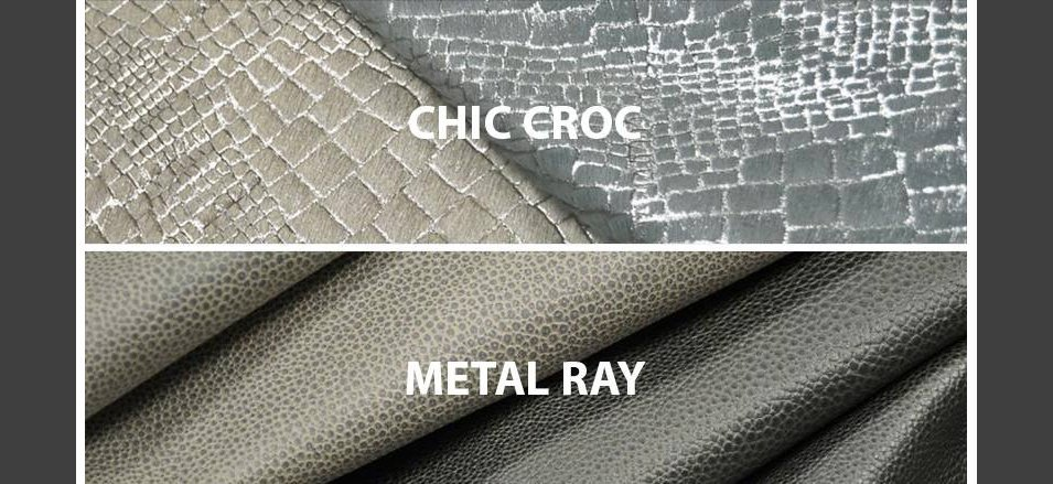 New Leather Collections Chic Croc and Metal Ray