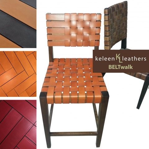 Chairs Upholstered in BELTwalk By Keleen Leathers