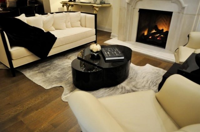 large leather rug for home interior by Keleen Leathers, Inc.