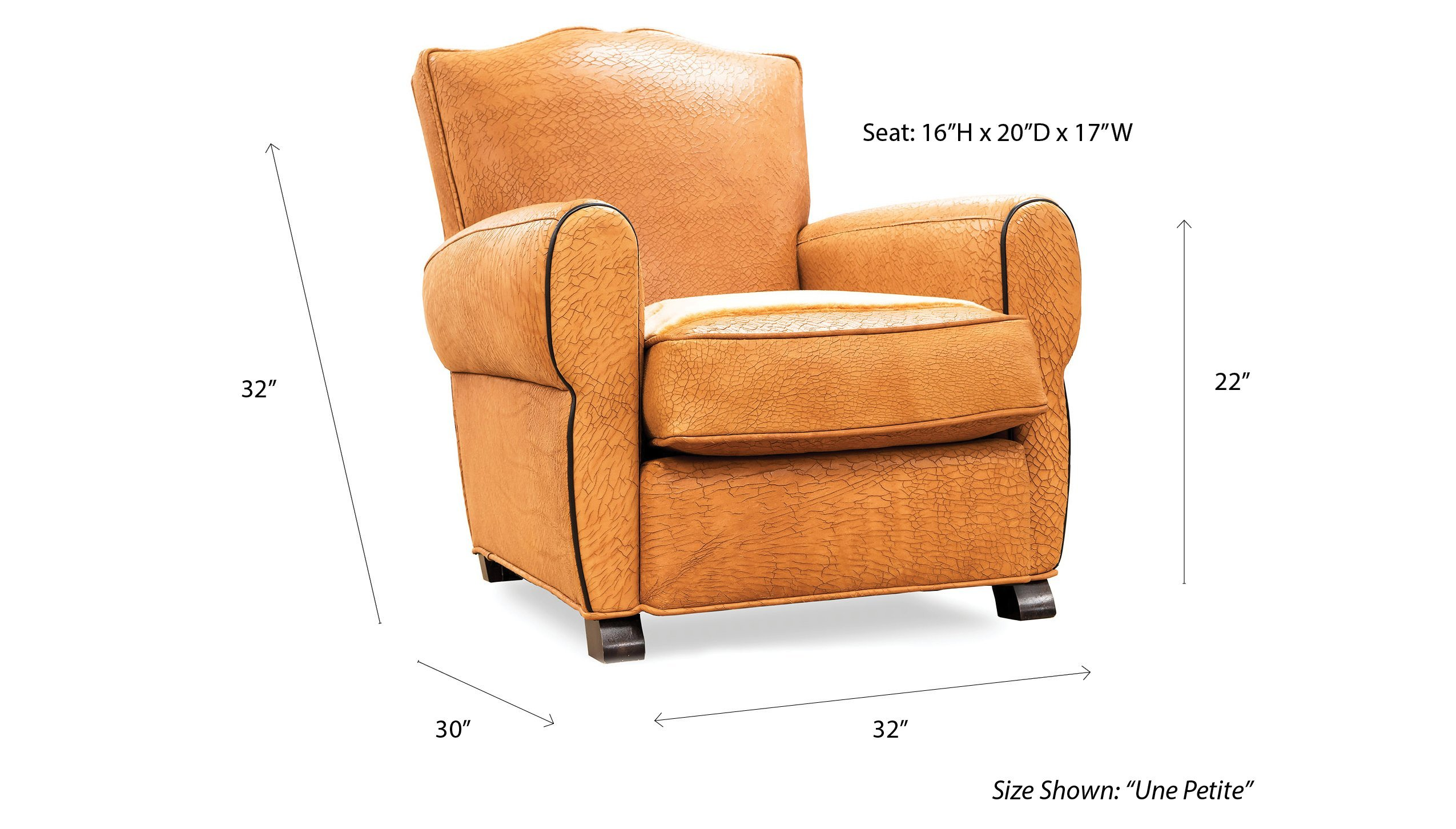 classic paris club chair measurements