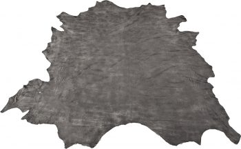 Black grey leather - full leather hide