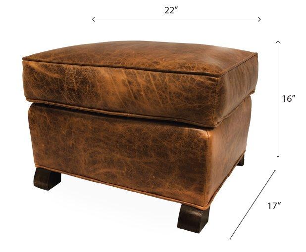 keleen leather ottoman classic paris club ottoman