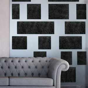 Image of Keleen Leathers KLAD Luxury Leather Wall  with Mixed Metal