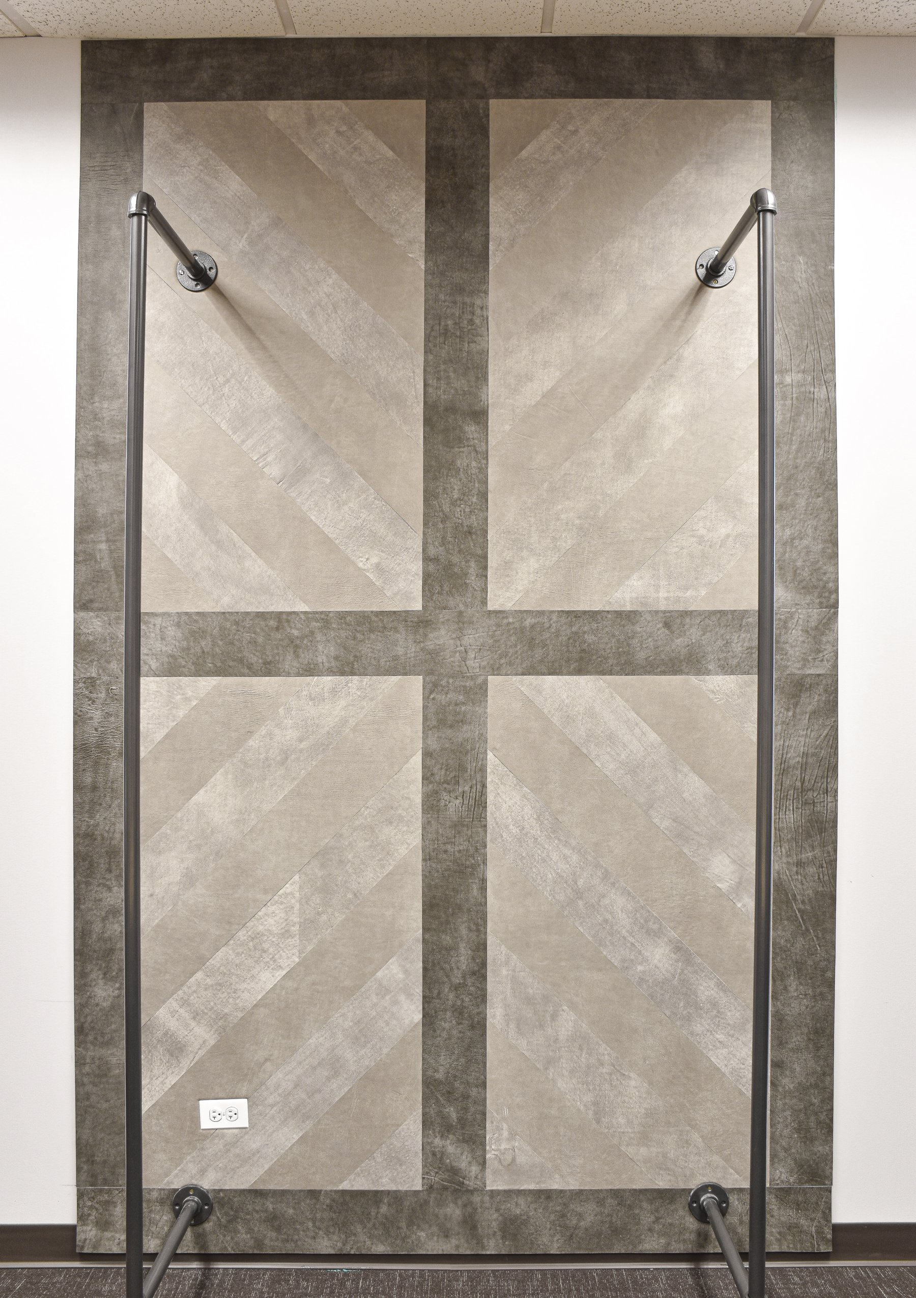 Image of Keleen Leathers KLAD Luxury Leather Wall for Retail Design