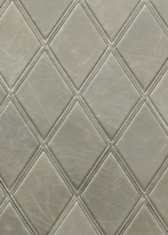 KLAD Luxury Leather Wall in Diamond Pattern With Stitched Detail