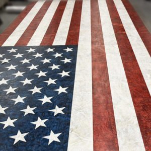 KLAD™ Luxury Leather Wall American Flag Design