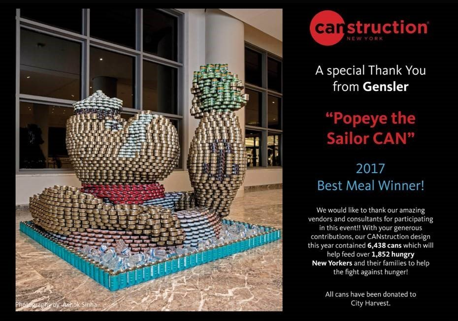 Gensler New York Canstruction - Keleen Leathers Inc Donation