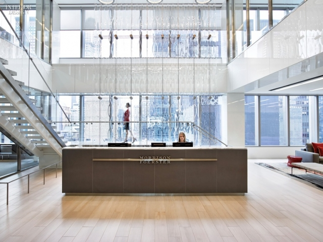 Interior Design Magazine - Gensler Uses Keleen leather on Front Desk