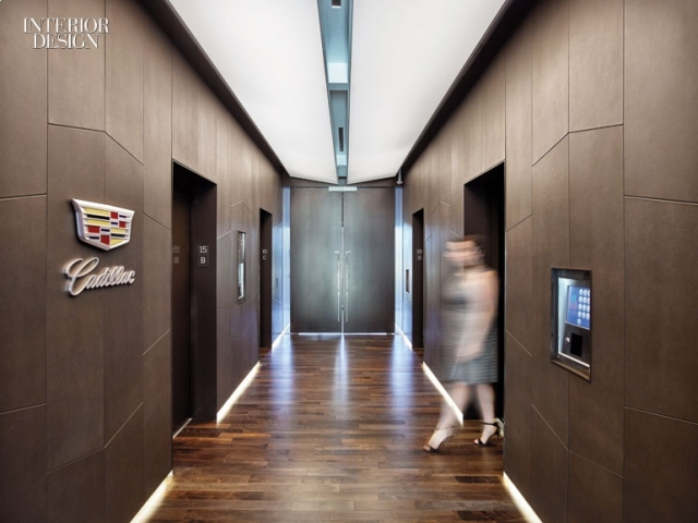 Interior Design Magazine - Gensler Uses Keleen Leather's Wall Covering System