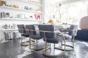 Vintage Chairs Reupholstered in Shearling By Keleen Leathers | HSH Interiors