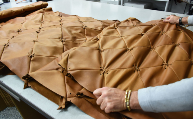 Keleen Leathers in the Heart of Hudson Yard | Upholstery for Queensyard