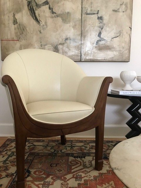 Erik Waldorf's Chair Upholstered in Wet Martini 833