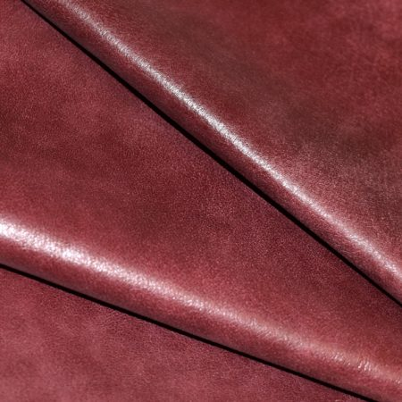Pink Red Distressed Residential Upholstery Leather