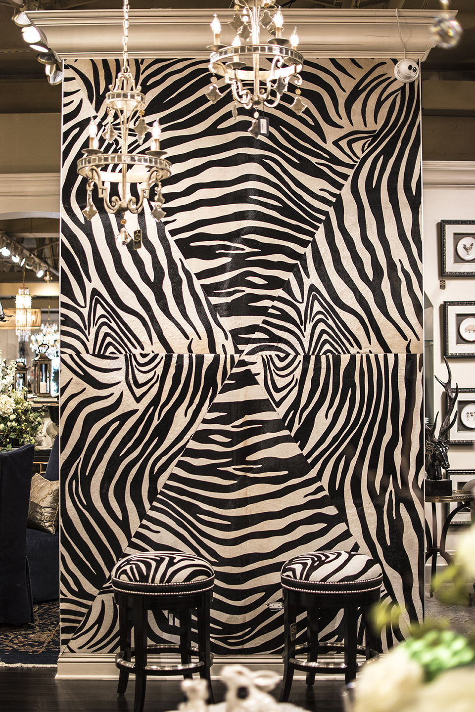 Keleen Leathers Zebra Posh Luxury Leather Wall for KLAD