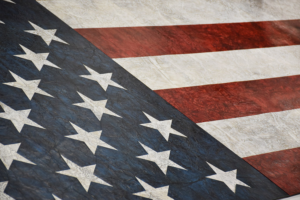American Flag 4th of July Leather Wall Design KLAD by Keleen Leathers, Inc.