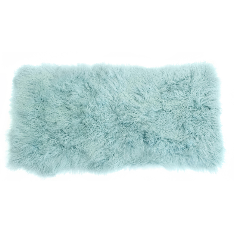 Keleen Leathers Luxury Shearling Rug Hide Blue