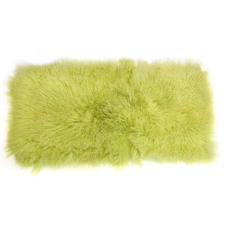 Keleen Leathers Luxury Shearling Rug Hide Neon Green