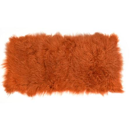 Keleen Leathers Luxury Shearling Rug Hide Orange Rust