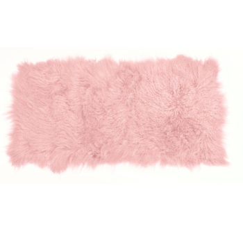 Keleen Leathers Luxury Shearling Rug Hide Pink