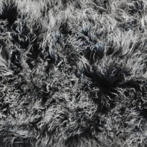 Keleen Leathers Luxury Shearling Rug Hide Black White