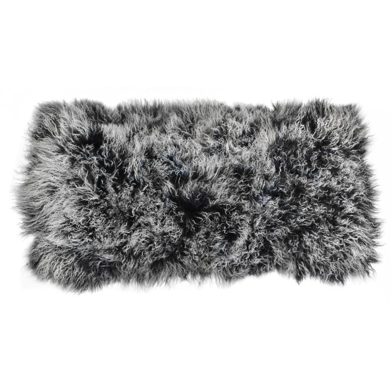 Keleen Leathers Luxury Shearling Rug Hide Black White