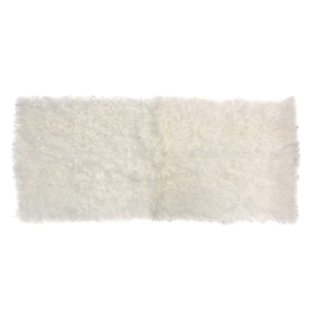 White Refined Shearling Keleen Leathers