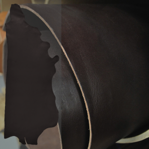 LEATHER HIDE SIDE - COCOA